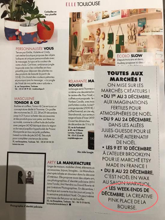 Créative Pink est dans Elle Toulouse !