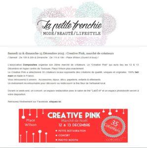 Créative Pink est dans le blog de la Petite Frenchie !