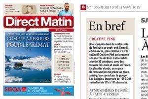 Créative Pink est dans Direct Matin dans la rubrique en Bref !
