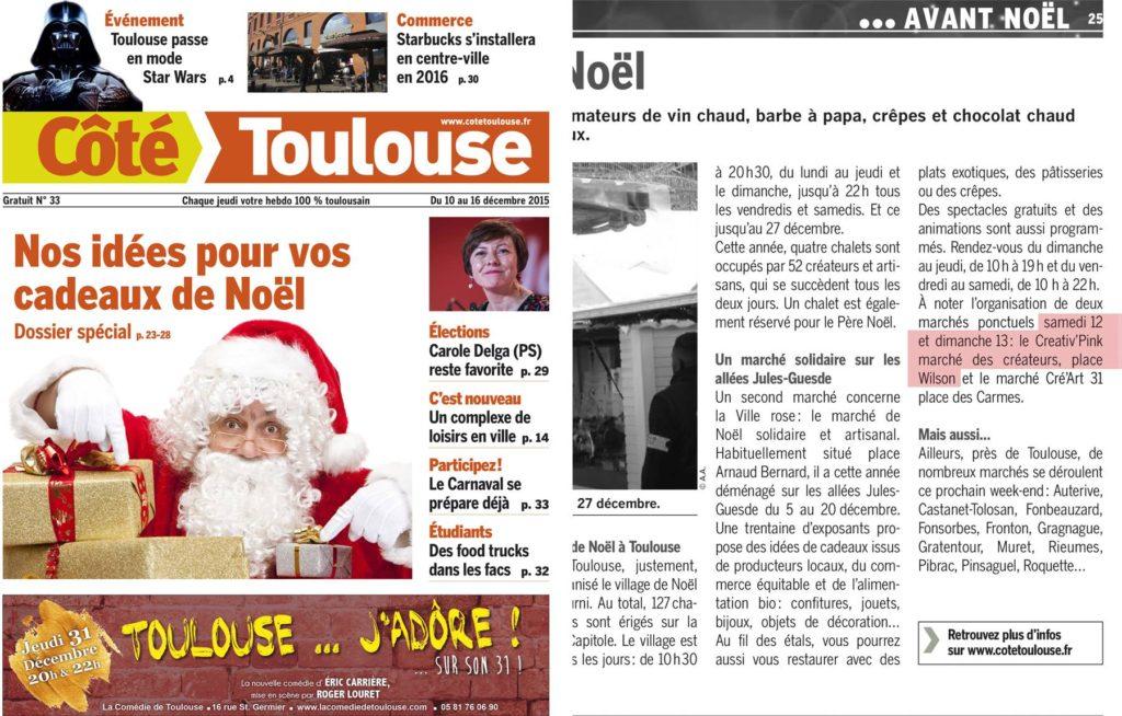 Creative Pink est dans Coté Toulouse !